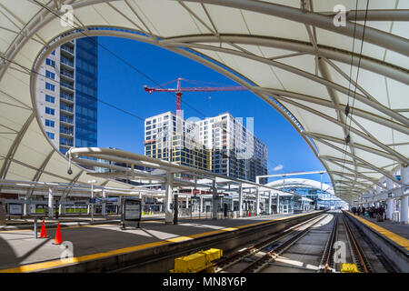 La Union Station, Denver, Colorado, Stati Uniti d'America. Foto Stock