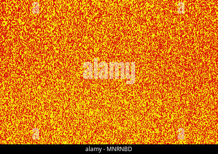 Abstract backgroud colorati - giallo e rosso rumore di tv Foto Stock