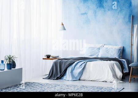 Camere Da Letto Blu : Dipingere le pareti della camera da letto avec camera letto