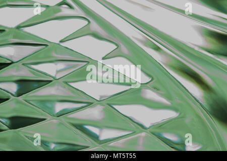 Abstract macro immagine di sfondo della splendida sfocati con vetro a forma di diamante i modelli di progettazione Foto Stock