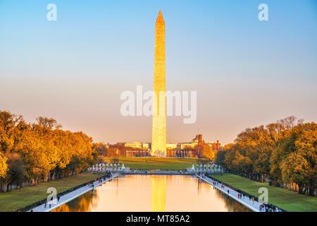 Il Monumento a Washington, Stati Uniti d'America Foto Stock
