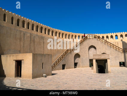 Nizwa fort, Ad Dakhiliyah Regione, Nizwa, Oman Foto Stock