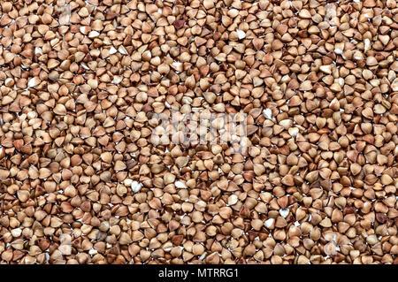 Sfondo di semole e semolini di grano saraceno in tutte le immagini. Foto Stock