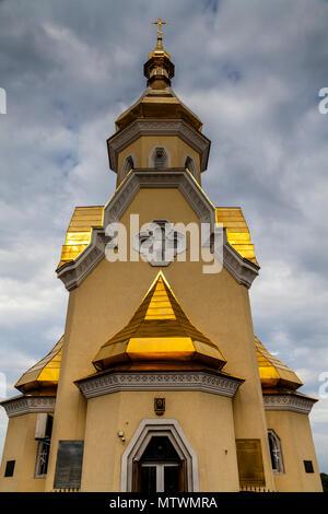 St Nicolas Wondermaker sull'acqua Chiesa, Kiev, Ucraina Foto Stock
