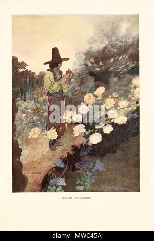 Inglese Hans Nel Suo Giardino Illustrazione Di Oscar Wilde Il