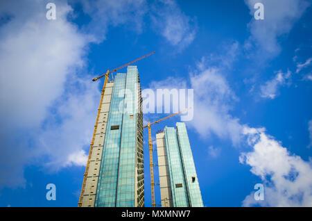 Grande cantiere di Istanbul con la luce solare Foto Stock