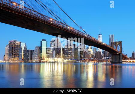 Orizzonte di New York City, Stati Uniti d'America Foto Stock