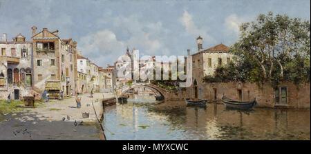 10 Antonio María Reyna Manescau canale veneziano Foto Stock
