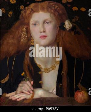 Bocca Baciata, labbra che sono state baciò Dante Gabriel Rossetti, 1859, il Museo delle Belle Arti di Boston, Massa, Stati Uniti d'America, America del Nord Foto Stock