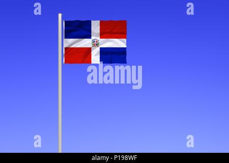 Bandiera della Repubblica Dominicana, Flagge von Dominikanische Republik
