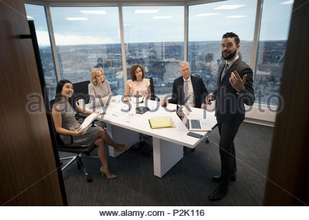 Imprenditore principale conferenza sala meeting Foto Stock