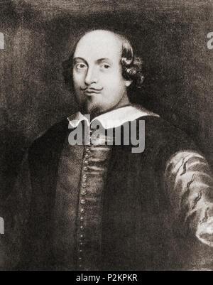 William Shakespeare, 1564 - 1616. Poeta inglese, drammaturgo e attore. Il ritratto di Stratford. Da Shakespeare il giocatore, pubblicato 1916 Foto Stock
