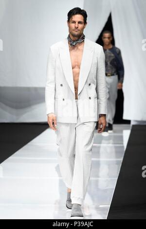 Milano, Italia. Xviii Jun, 2018. Moda Uomo Primavera Estate