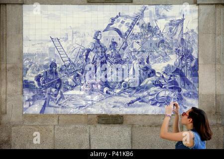 Murale in ceramica porto portogallo foto & immagine stock: 6633697