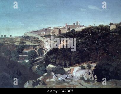 Città Di Volterra Da Jean Baptiste Camille Corot 1796 1875 La