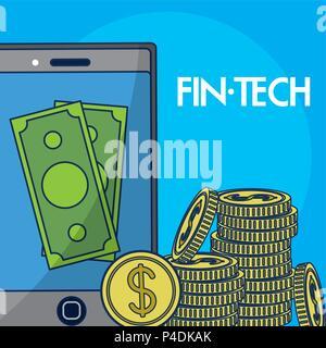 Finanziario il concetto della tecnologia Foto Stock