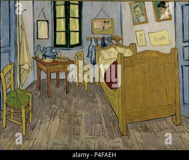 Scuola olandese. Van Gogh la camera da letto di Arles. 1889. Olio su tela (57 x 74 cm). Parigi, Musée d'Orsay. Autore: Vincent van Gogh (1853-1890). Posizione: MUSEE D'Orsay, Francia. Foto Stock
