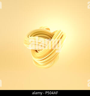 Abstract swirl blu, rendering 3D Foto Stock