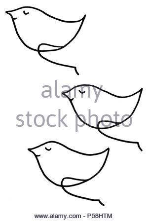 Oh Happy day v trio gel umorismo disegno illustrazione in bianco e nero Foto Stock