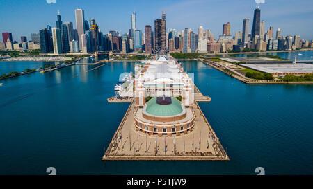 Il Navy Pier, Chicago, IL, Stati Uniti d'America Foto Stock