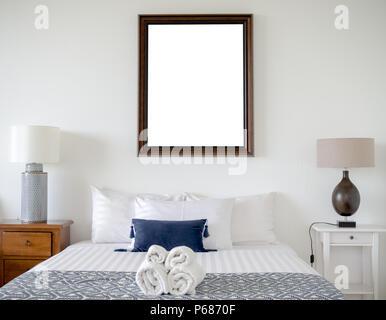 Camera Da Letto Vintage Moderno : Camera da letto moderno con legno vergine vintage frame sul muro