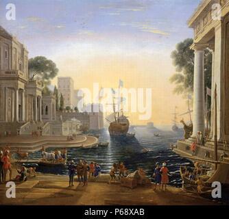 """Ulisse Chryseis ritorna da suo padre"""" di Claude Lorrain (1600-1682) un pittore francese, disegnatore e incisore di epoca barocca. Datata 1664. Foto Stock"""