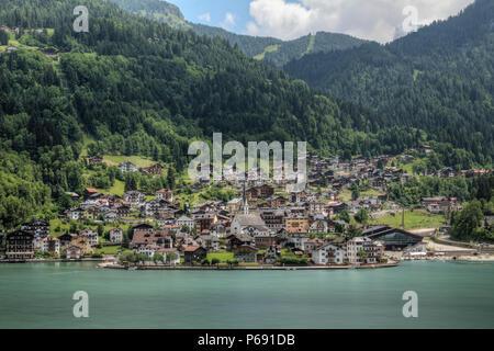 Alleghe, Belluno Dolomiti, Veneto, Italia, Europa Foto Stock