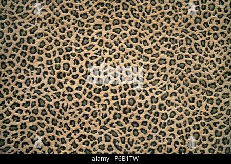 Immagine ravvicinata di un tessuto con pelle di leopardo pattern