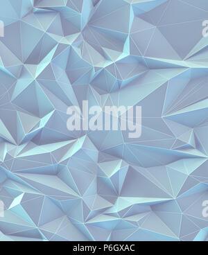 3D'illustrazione. Abstract immagine di sfondo, collegamenti in linee geometriche e di forma triangolare. Vintage colorati pastello. Foto Stock