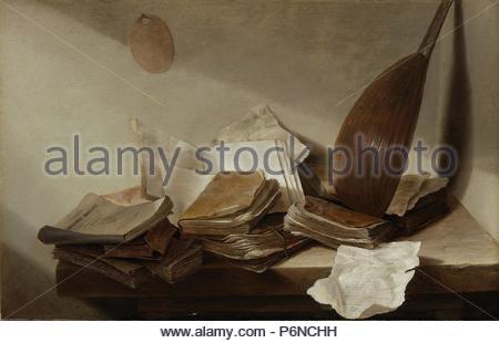 Natura morta con libri, Jan Davidsz de Heem, 1625 - 1630. Foto Stock