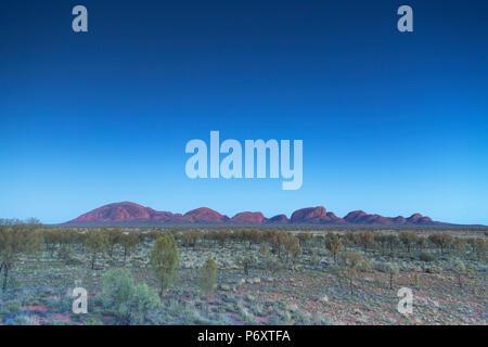 Kata Tjuta / l'Olgas (Patrimonio Mondiale dell'UNESCO), Uluru-Kata Tjuta National Park, il Territorio del Nord, l'Australia Foto Stock