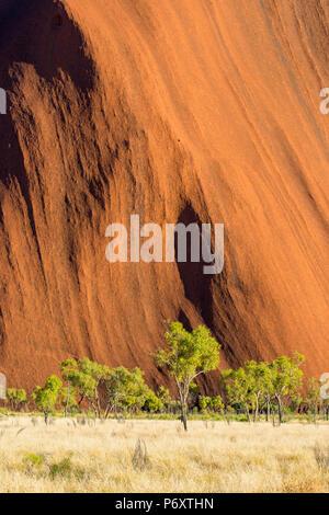 Uluru (Ayers Rock), Uluru-Kata Tjuta National Park, il Territorio del Nord, l'Australia centrale, Australia. Foto Stock