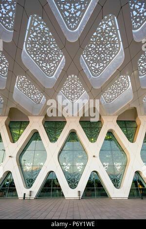 Il Marocco, Marrakech-Safi (Marrakesh-Tensift-El Haouz) regione, Marrakech. Edificio Terminal a Marrakech Menara Aeroporto. Foto Stock