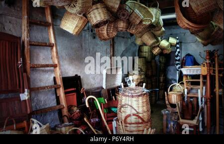 Ritratto greco della vita quotidiana a Salonicco in estate Foto Stock