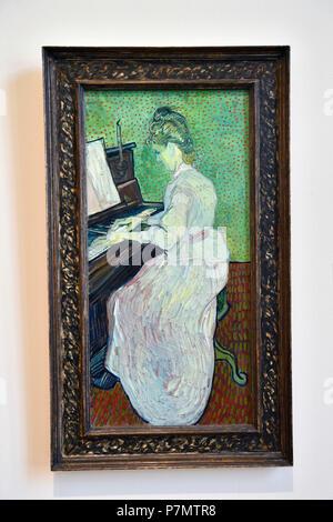 La Svizzera, Basilea, Museo di Belle Arti Kunstmuseum, Marguerite Machet al pianoforte di Vincent Van Gogh Foto Stock