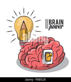 Brain power concept Foto Stock