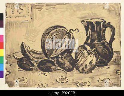 . 454 Paul Signac 11. 11. 1863-15. 8. 1935 - Zatisi se dzbanem Foto Stock