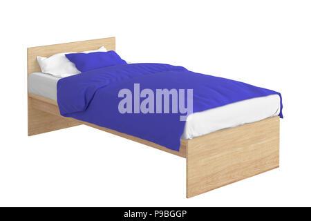 In legno di dimensioni doppie di un letto singolo con