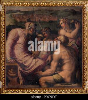 Allegoria di San Giovanni Valdarno. Museo: Palazzo Vecchio, Firenze. Foto Stock