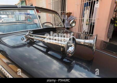 Un'annata 1948 American Mercury otto lavorando come un taxi nel Patrimonio Mondiale UNESCO città di Trinidad, Cuba. Foto Stock