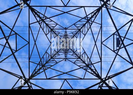 Un caleidoscopio configurazione astratta da guardare direttamente su un pilone