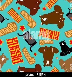 Russian folk nazionale vecchie scarpe. La Russia storico sullo sfondo di  calzature. Ornamento del vettore · La Russia pattern. Il tiglio di scarpe e  orso. f9554018a36