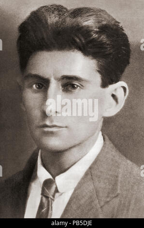 Franz Kafka, 1883 - 1924. Di lingua tedesca Bohemian Jewish romanziere e novelliere. Dopo una stampa contemporanea.