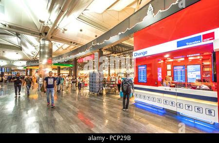 Dall'aeroporto internazionale di Istanbul. Turchia Foto Stock