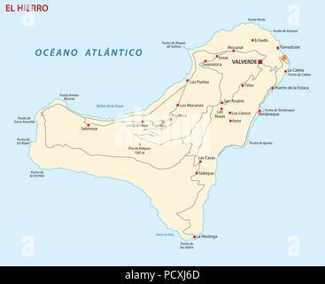 Tenerife Cartina Stradale.Vettore Mappa Stradale Di Isola Canarie Tenerife Immagine E Vettoriale Alamy