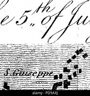 """""""Un Account del tardo eruzione del Vesuvio. In una lettera inviata da destra onorevole Sir William Hamilton, K. B. F. R. S. a Sir Joseph Banks, Bart. P. R. S."""" (1795) Foto Stock"""