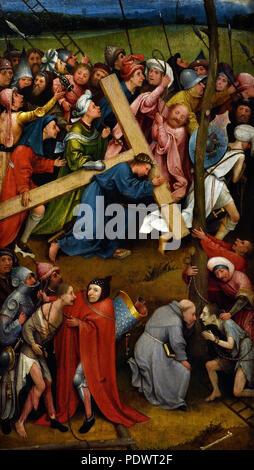 Cristo porta la croce 1490/1510 Hieronymus Bosch ( Jheronimus van Aken ) (ca. 1450-1516) olandese Nei Paesi Bassi ( Early Netherlandish pittore. ) Foto Stock