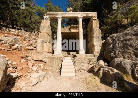 Ninfeo o tempio di Venere le rovine romane di Zahlé, Bekaa Valley, il Libano. Foto Stock
