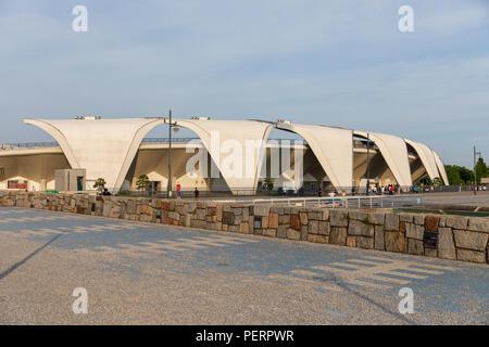 Komazawa Olympic Park Stadium (Murata Masachika architetti) costruito per le 1964 Olimpiadi di estate a Tokyo in Giappone