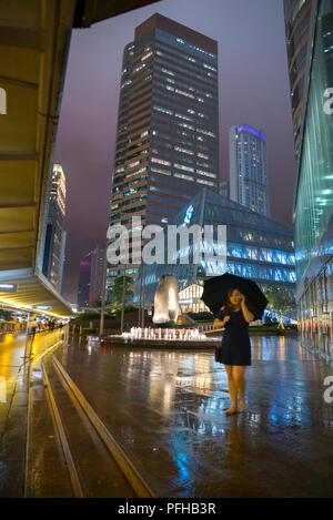 Grattacieli nel distretto centrale, Hong Kong, Cina Foto Stock
